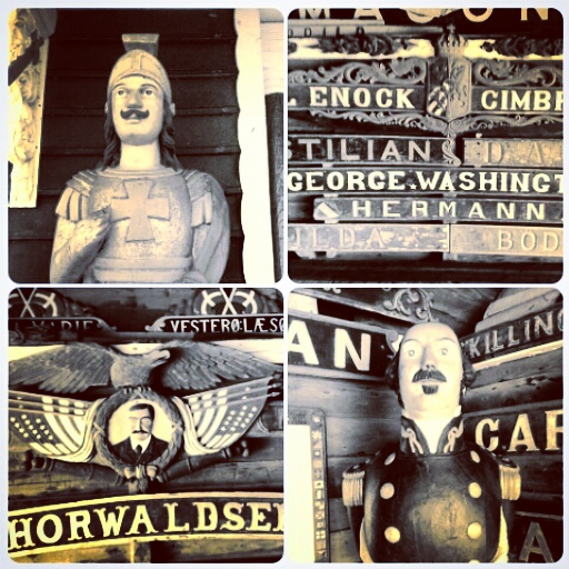 Shipwrecked Figureheads and Nameplates
