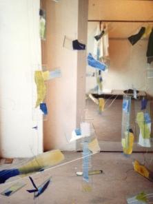 Window Display. Issey Miyake (UK) LTD. Heather Gartside. 1990