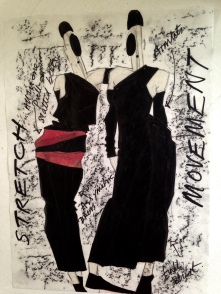 Fashion illustration. Heather Gartside 1985