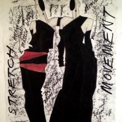 Fashion illustration. Heather Gartside 1985