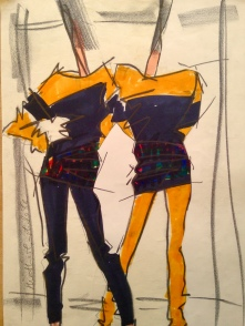Fashion Illustration. Heather Gartside 1986