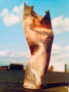 "Raku Ceramic. ""Beaten Woman."" Heather Gartside 1988"