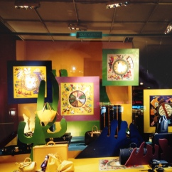 Window Display for Louis Vuitton, Paris. Heather Gartside 1994